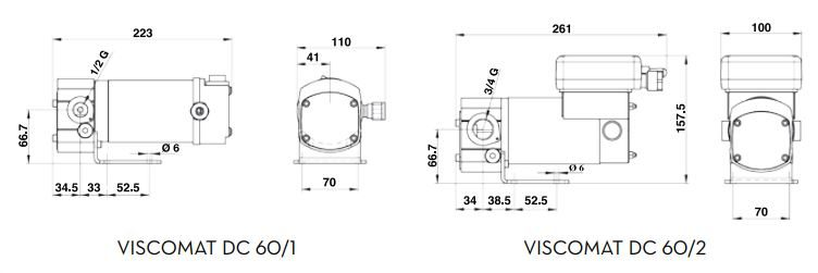 Viscomat 60 1 60 2 Dimensions